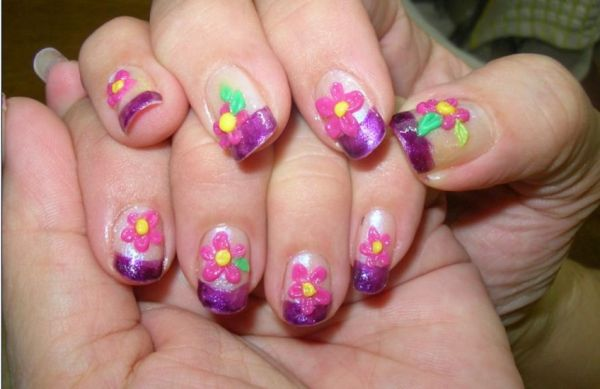 3D Japanese summer nails