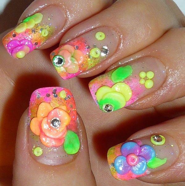 3D nail art tutorials