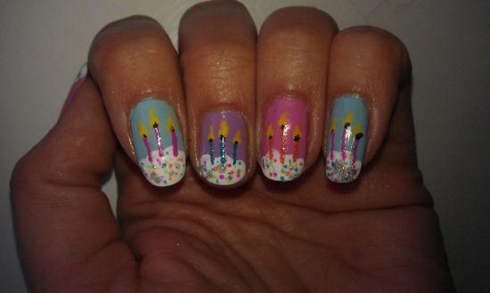 Birthday Nail Designs