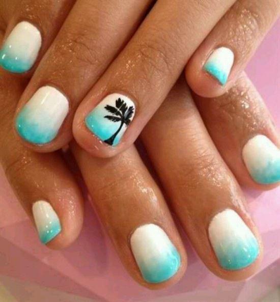 Tropical Nail Art Ideas
