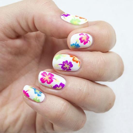 tropical nail art design