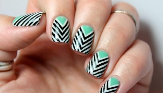 Multi-Layer Chevron Nails