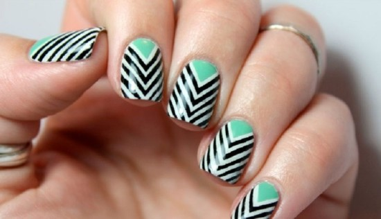 Multi-Layer Chevron Nails