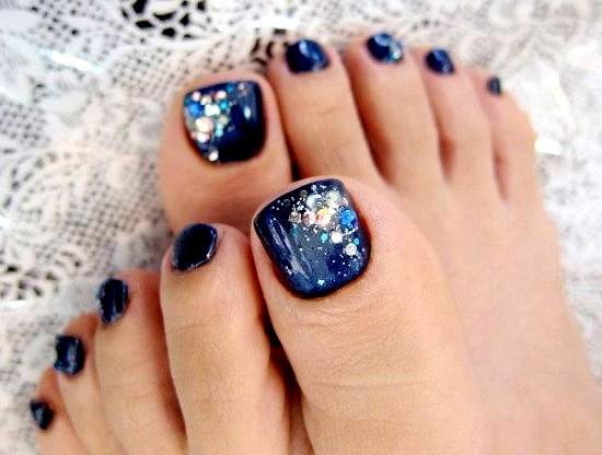 Blue Heaven Toe Design
