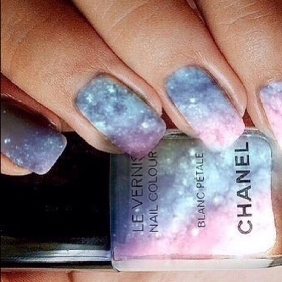 Foggy Space Nails Art