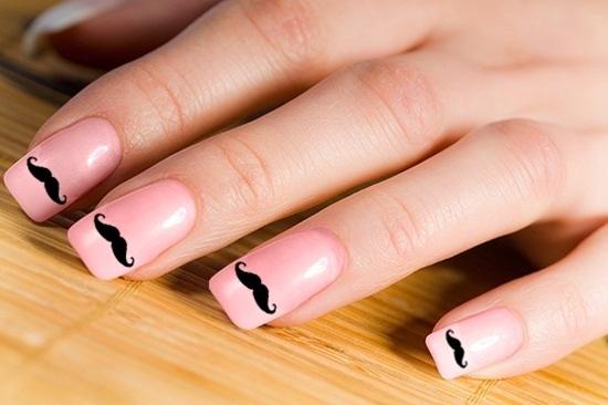 Long Pink Nail Mustaches