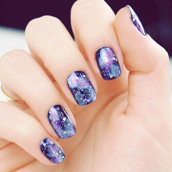 18 Awesome Galaxy Nail Art Tutorials Design Ideaz