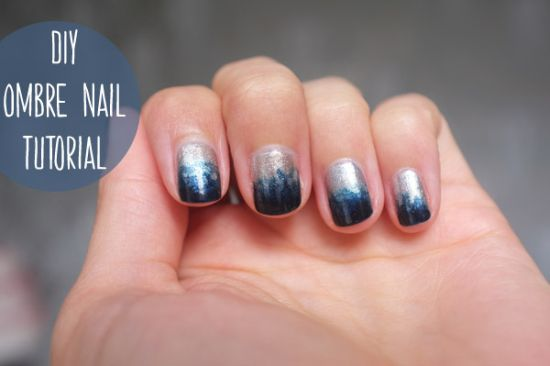 Two Tone Nail Art