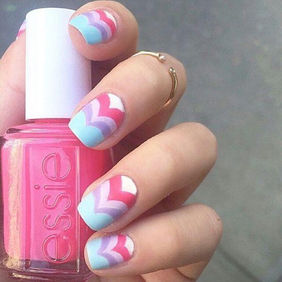 Pink Easter Nail Art