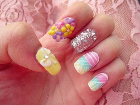 stylish pastel nail design
