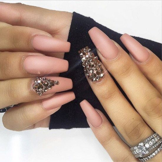 Coffin Shaped Nails