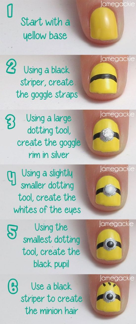 Minion Nail Art Tutorial