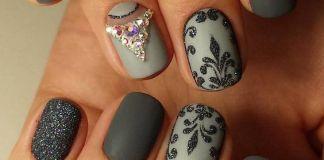 Elegant Matte Grey Nails