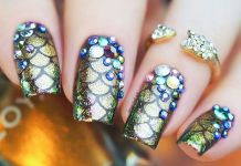 Sophisticated Mermaid Nail Art