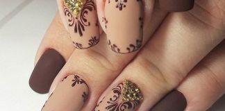 Elegant Ornate Squaval Nails