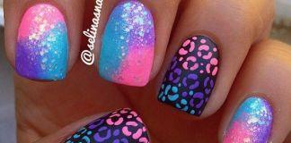 Fabulous Gradient Cheetah Nails