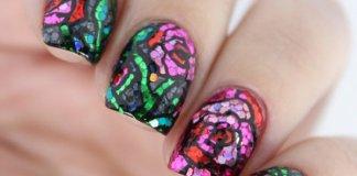 glittery nails