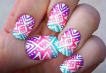 Cosmic Inspired Aztec Nails