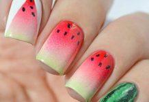 Ombre Watermelon Nail Design