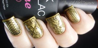Vintage Metal Gold Nails