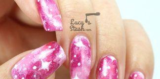 Galactic Pink Nail Design