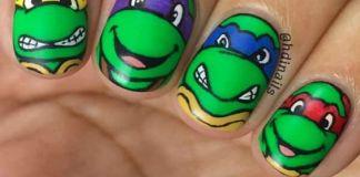 Ninja Turtle Nails