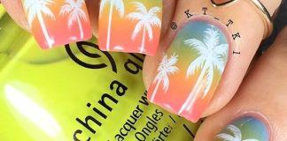 Negative Space Palm Nails
