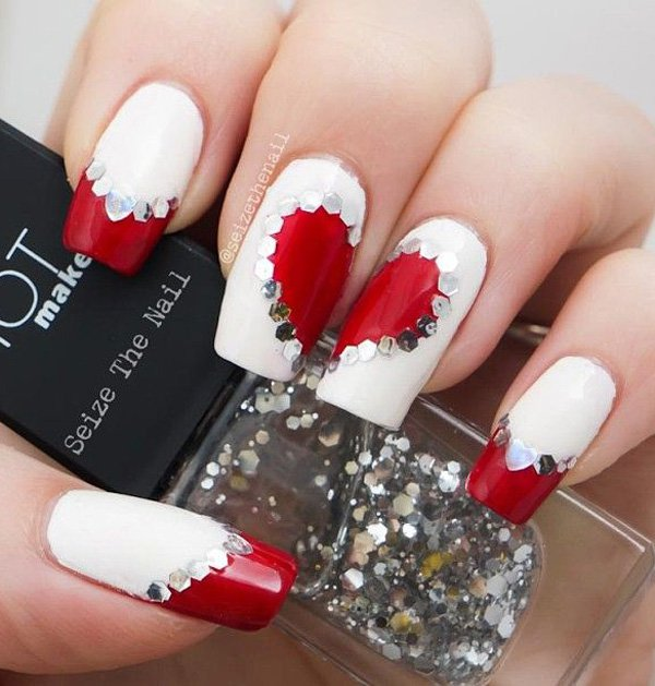 Simple Nail Art Designs Ideas For Valentines Day