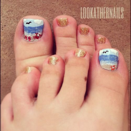 11cute Toe Nails Design In Summer Inspired