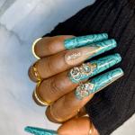 press on nails tiffany blue