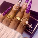 croc skin press on nails