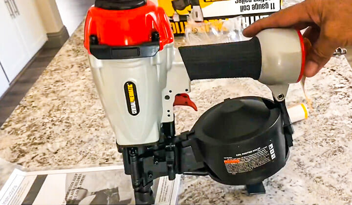 harbor freight roofing nailer review