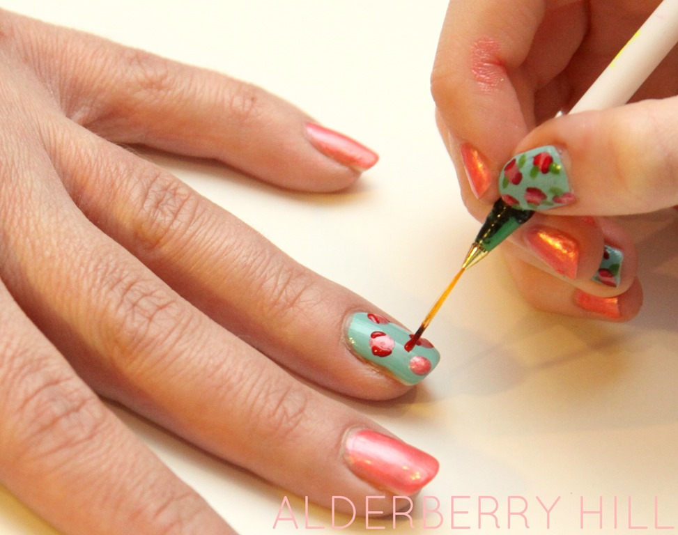 Diy Fl Nail Art 5