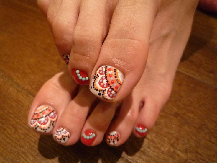 Wonderful Toe Nails Designs View Images