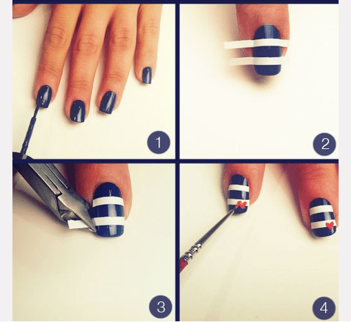 Simple Nail Art Step By Instruction