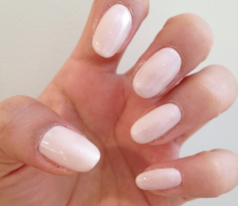Apply A Pale Beige Nail Color
