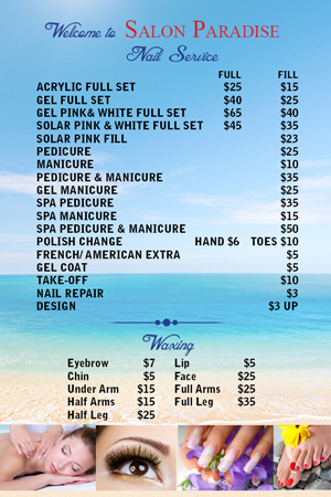 Nailsalonprinting Specialize In Printing For Nail Salon Posters