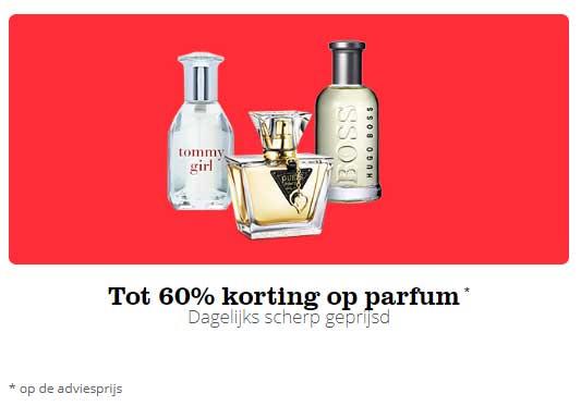 Tot 60% korting op parfum