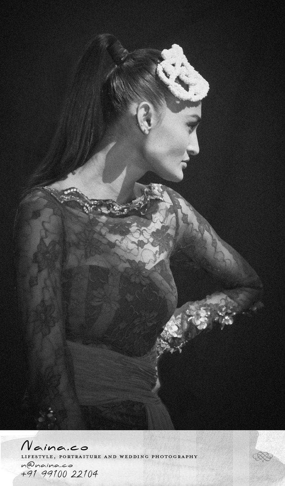 Portraits of an Indian fashion model Rachel Bayros. Photography by professional Indian fashion photographer Naina Redhu of Naina.co