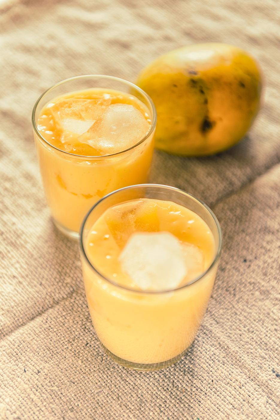 Mango Milkshake. Food & Beverage photography. Photography by professional Indian lifestyle photographer Naina Redhu of Naina.co