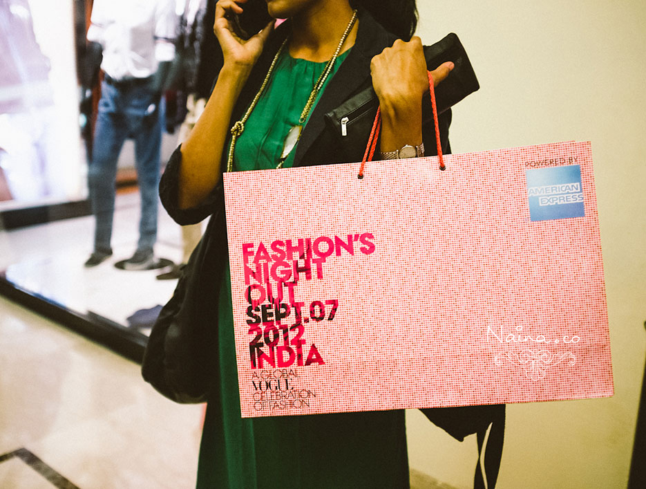 Vogue Fashion's Night Out, DLF Emporio, New Delhi, India, 2012. #vfno #fnoindia Photography by photographer and blogger Naina Redhu