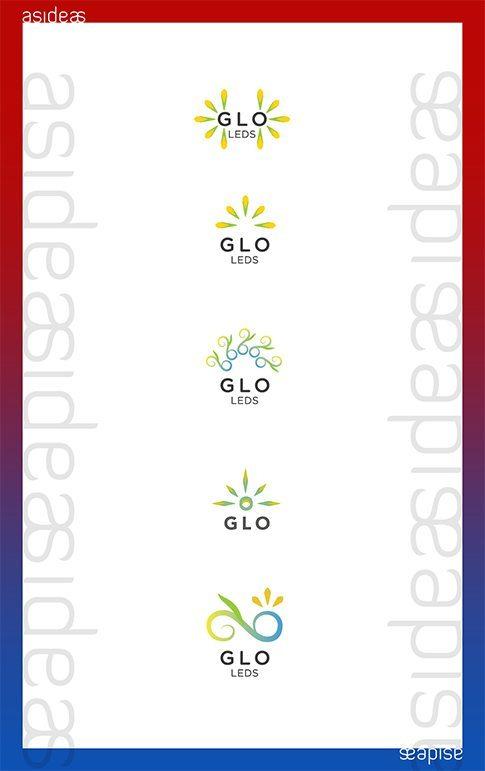GLO CFL LED Lighting Fixtures India Branding Visual Identity Logo Design Naina.co aside asidebrands