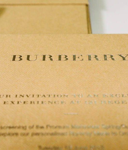 Burberry Prorsum Menswear Spring Summer 2014 Kensington Gardens London UK British Fashion Luxury Lifestyle Photographer Brand Storyteller Naina.co Invite Stationery