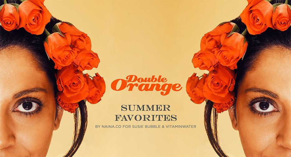 Susie-Bubble-Vitamin-Water-London-Fashion-Week-LFW-2013-Naina.co-Double-Orange-Summer-Favorites-Shine-Bright