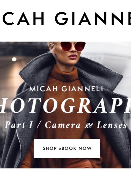 Micah Giannelli Photography ebook Camera Lenses Book Review, Micah Giannelli, Photography Book Review, Book Review, Cameras & Lenses