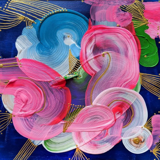 swirls, gold, acrylics, paper, 10 inches, 10x10, 10 x 10, acrylics on paper, khaosphilos, artbynaina, naina redhu, naina.co, unframed, signed, original art, contenporary art, indian artist, artist india, acrylics artist india, art for sale, texture painting, painting on paper, acrylic painting