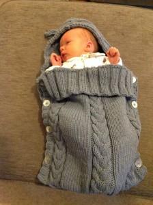 Phildar baby bunting