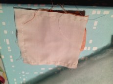 sew three sides using half centimetre hems