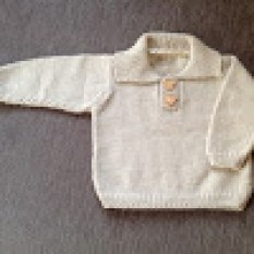 The polo sweater with it's teddy bear buttons.