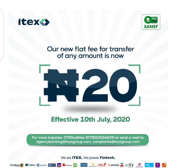 ITEX #20 Flat Rate Charges